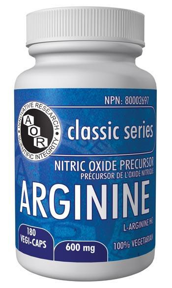 Supplements & Vitamins - AOR - Arginine, 180 Cap