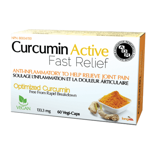 Supplements & Vitamins - AOR, Curcumin Active 133.3mg, 60 Caps