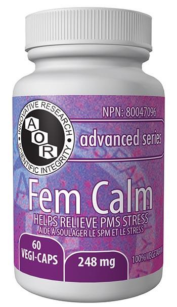 Supplements & Vitamins - AOR - Fem Calm, 60 Caps