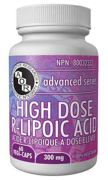 Supplements & Vitamins - AOR - High Dose R-Lipoic Acid, 60 VCaps