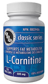 Supplements & Vitamins - AOR - L-Carnitine 500mg, 120 Caps