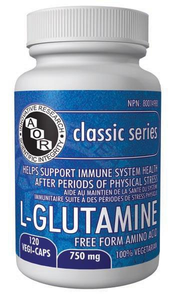 Supplements & Vitamins - AOR - L-Glutamine, 120 Caps