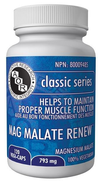 Supplements & Vitamins - AOR - Mag Malate Renew, 120 Caps