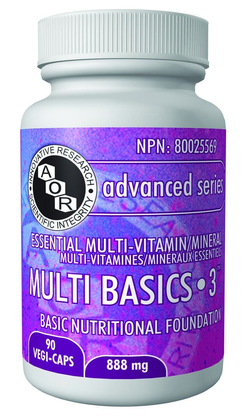 Supplements & Vitamins - AOR - Multi Basics-3, 90 Caps
