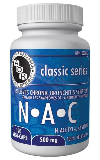 Supplements & Vitamins - AOR - N-A-C 500mg, 120 Caps