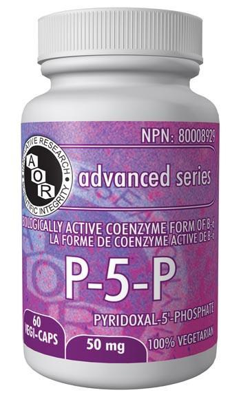 Supplements & Vitamins - AOR - P-5-P, 60 Caps