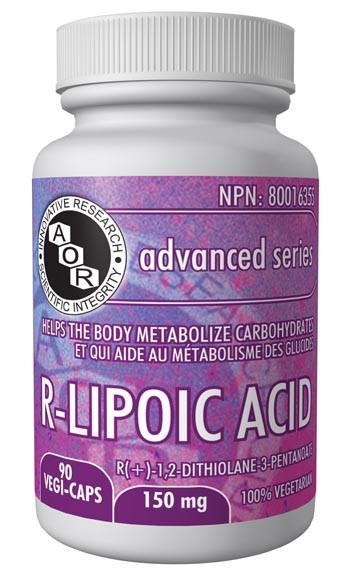 Supplements & Vitamins - AOR - R (+) - Lipoic Acid, 90 Caps