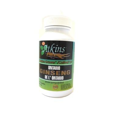Supplements & Vitamins - Atkins Ginseng Farm - Ontario Ginseng - 100 Caps