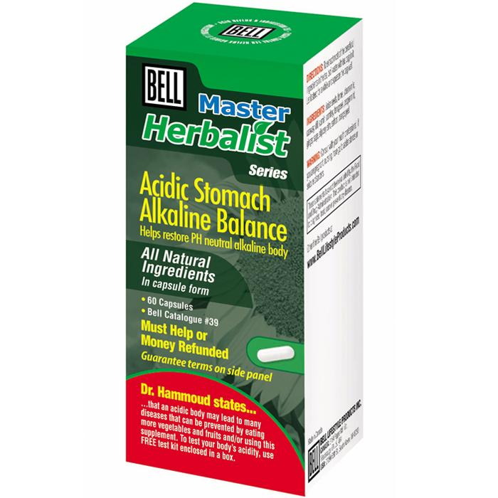 Supplements & Vitamins - Bell - Acidic Stomach Alkaline, 60caps
