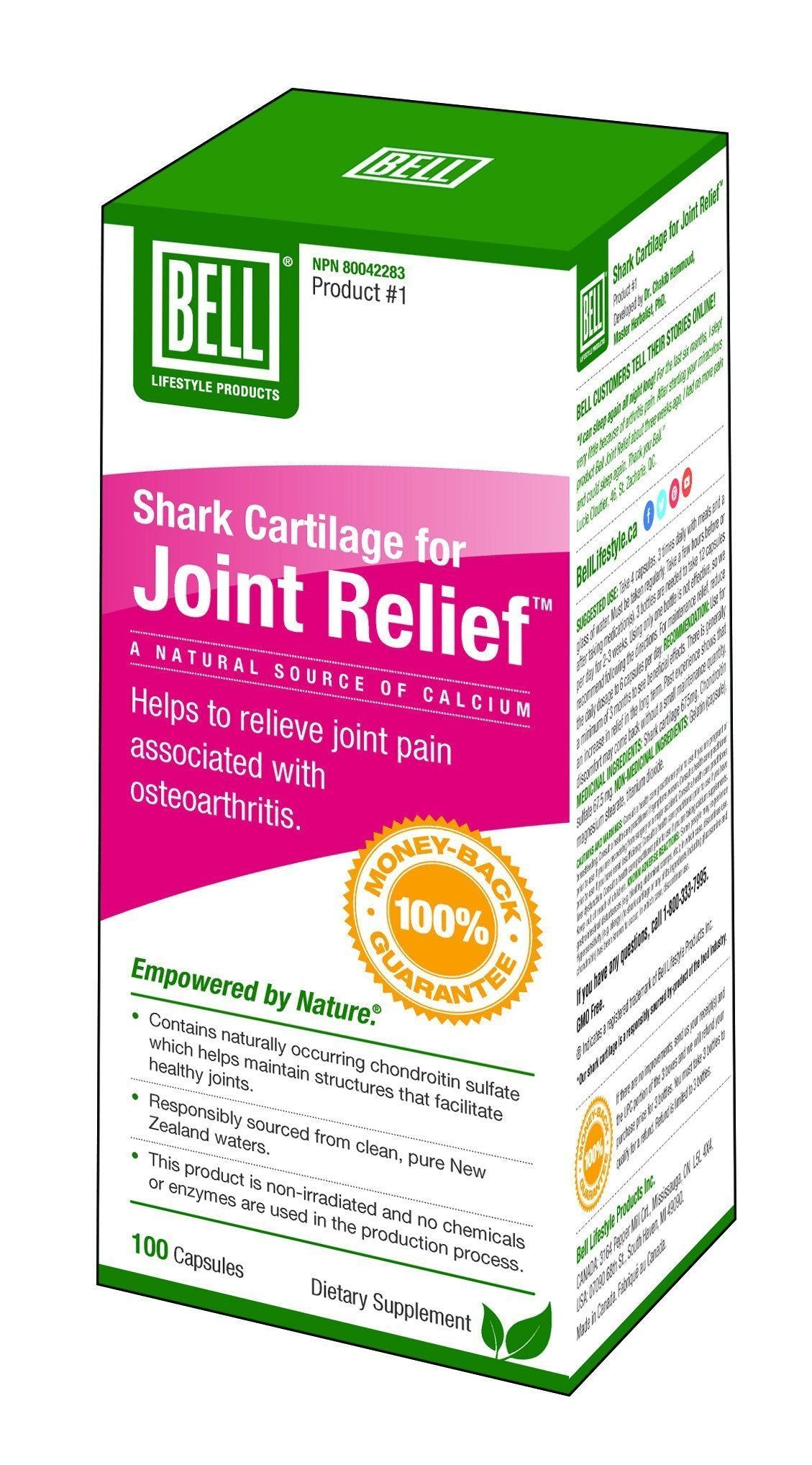 Supplements & Vitamins - Bell - Shark Cartilage, 100 Caps