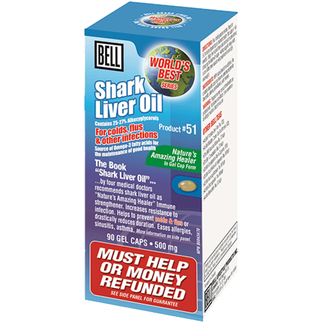 Supplements & Vitamins - Bell - Shark Liver Oil, 90 Caps