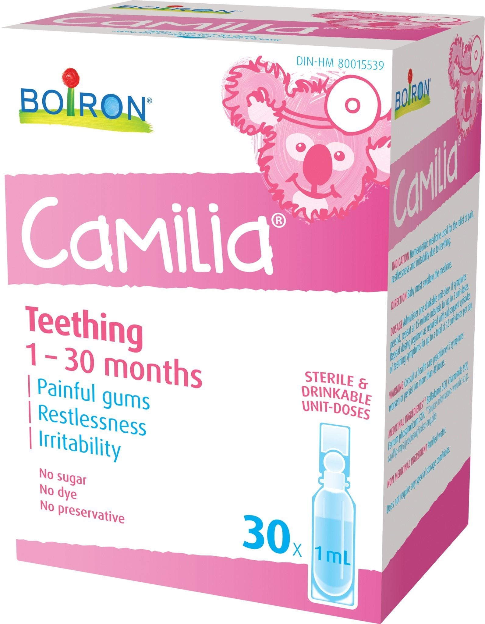 Supplements & Vitamins - Boiron - Camilia, 30 X 1ml Units