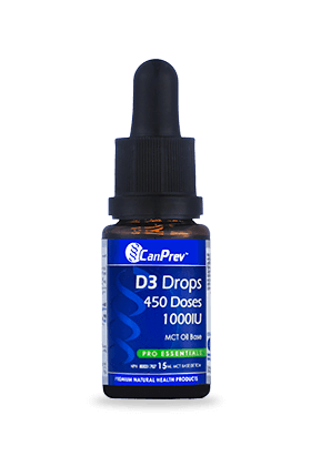 Supplements & Vitamins - CanPrev - D3 Drops 1000 IU, 15ml