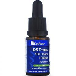 Supplements & Vitamins - CanPrev - D3 Drops 1000iu, 15ml