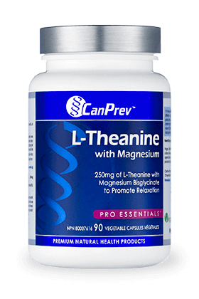 Supplements & Vitamins - CanPrev - L-theanine, 90 VCaps