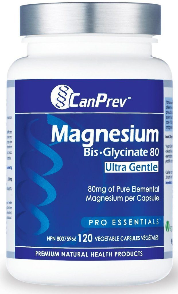 Supplements & Vitamins - CanPrev - Magnesium Bis-glycinate 80mg Ultra Gentle, 120 CAPS