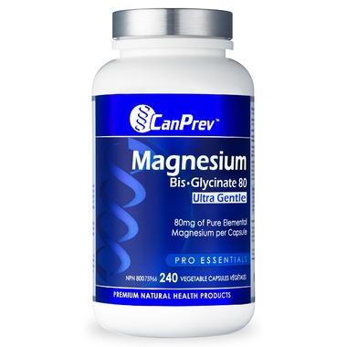 Supplements & Vitamins - CanPrev - Magnesium Bis-glycinate 80mg Ultra Gentle, 240CAPS