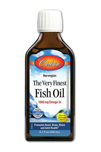 Supplements & Vitamins - Carlson - Finest Fish Oil Lemon - 200ml
