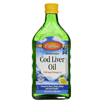 Supplements & Vitamins - Carlson - Norwegian Cod Liver Oil Lemon, 500 Ml