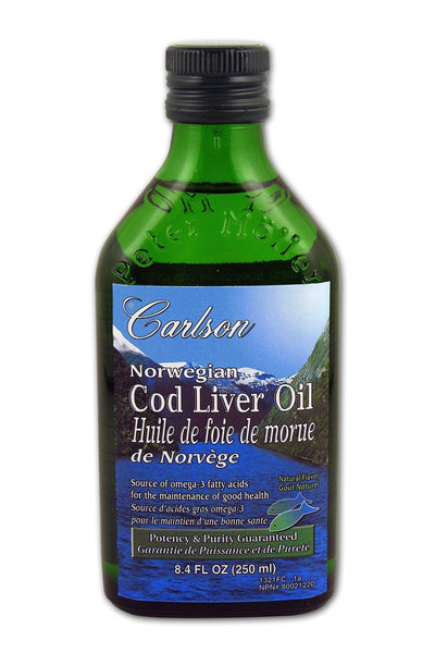 Supplements & Vitamins - Carlson - Norwegian Cod Liver Oil Unflavoured, 250ml