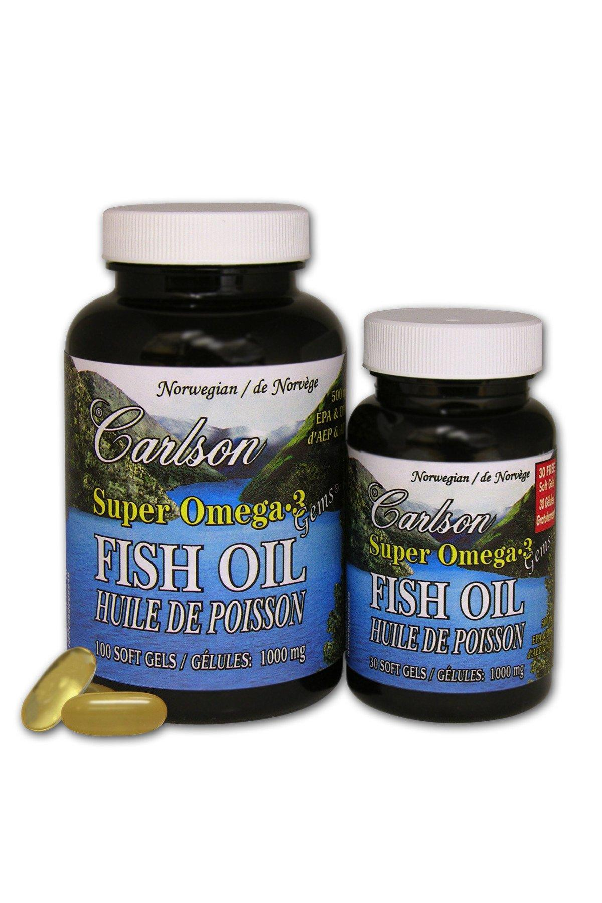 Supplements & Vitamins - Carlson - Super Omega3 Fish Oil, 100+30 Duo Pack