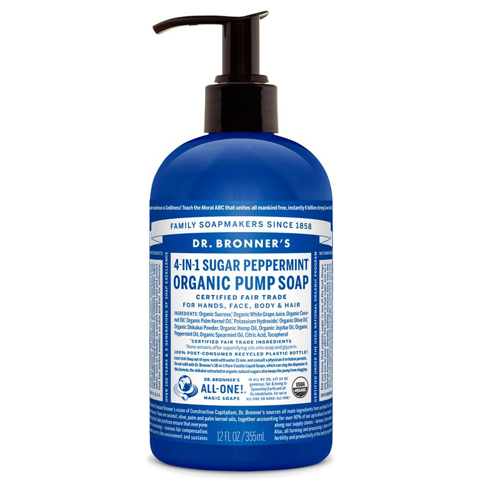 Supplements & Vitamins - Dr. Bronner's - Pump Soap - Peppermint, 355mL