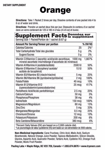 Supplements & Vitamins - Ener-C - Orange, 1 Sachet