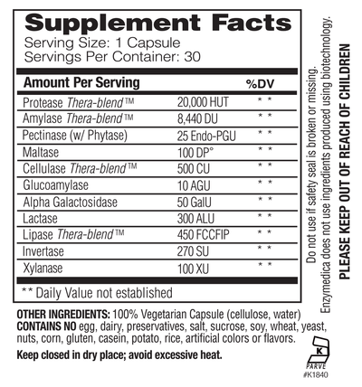 Supplements & Vitamins - Enzymedica - Digest, 90 Caps