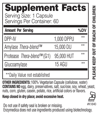 Supplements & Vitamins - Enzymedica - GlutenEase, 60 Caps