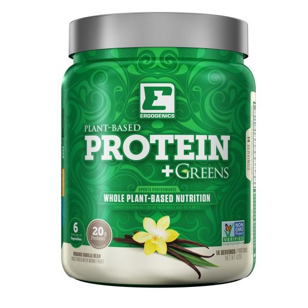 Supplements & Vitamins - Ergogenics Plant Protein +Greens, Vanilla 420g