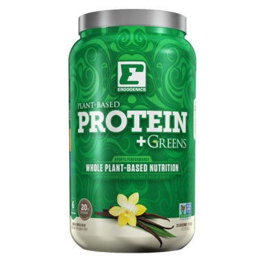 Supplements & Vitamins - Ergogenics Plant Protein +Greens, Vanilla 840g