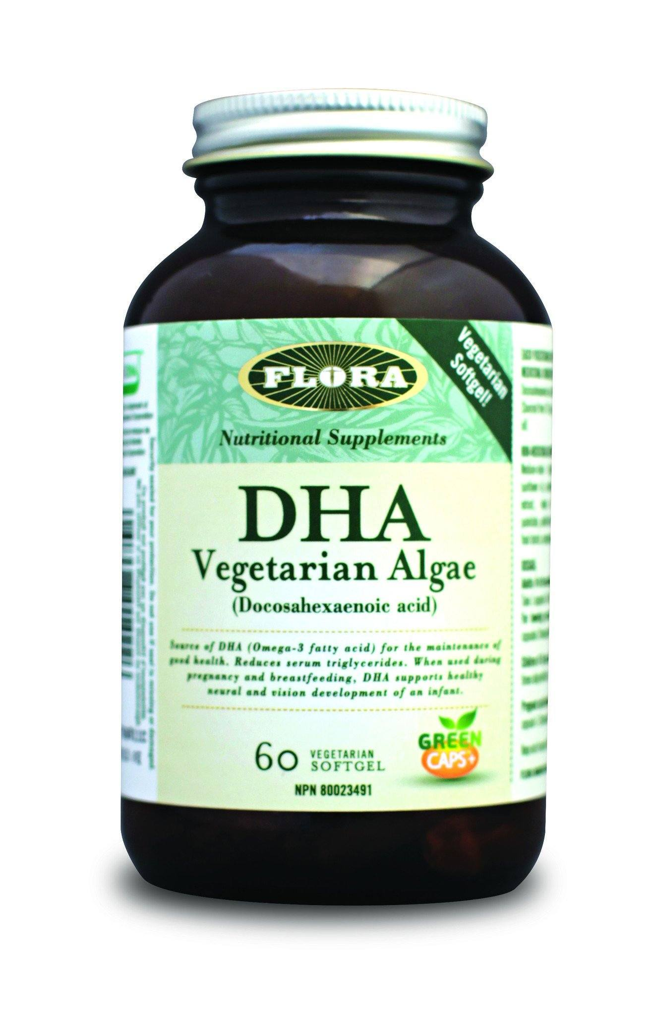 Supplements & Vitamins - Flora - DHA Vegetarian Algae, 60 Caps
