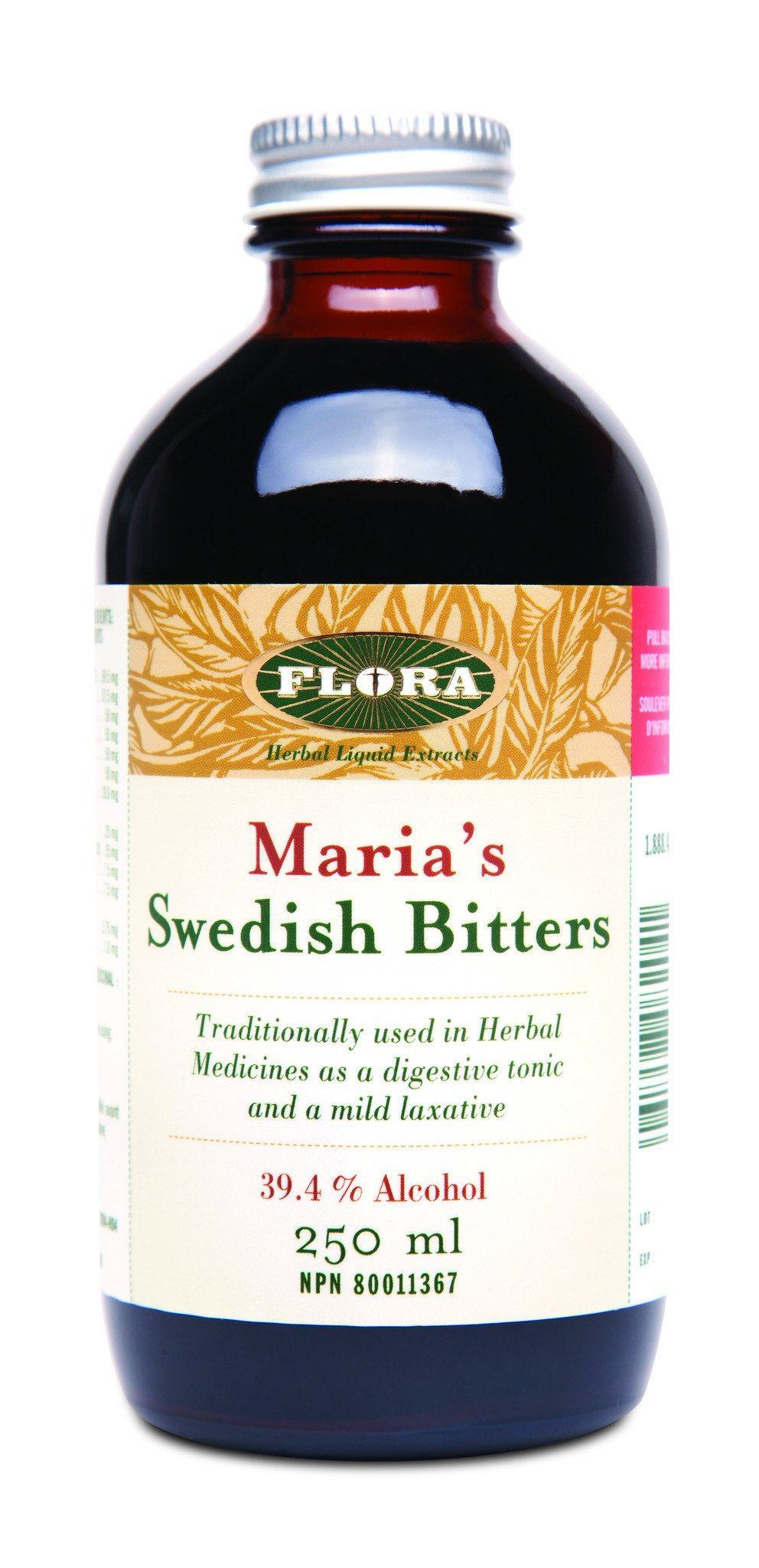 Supplements & Vitamins - Flora - Maria's Swedish Bitters (Alcohol), 250ml