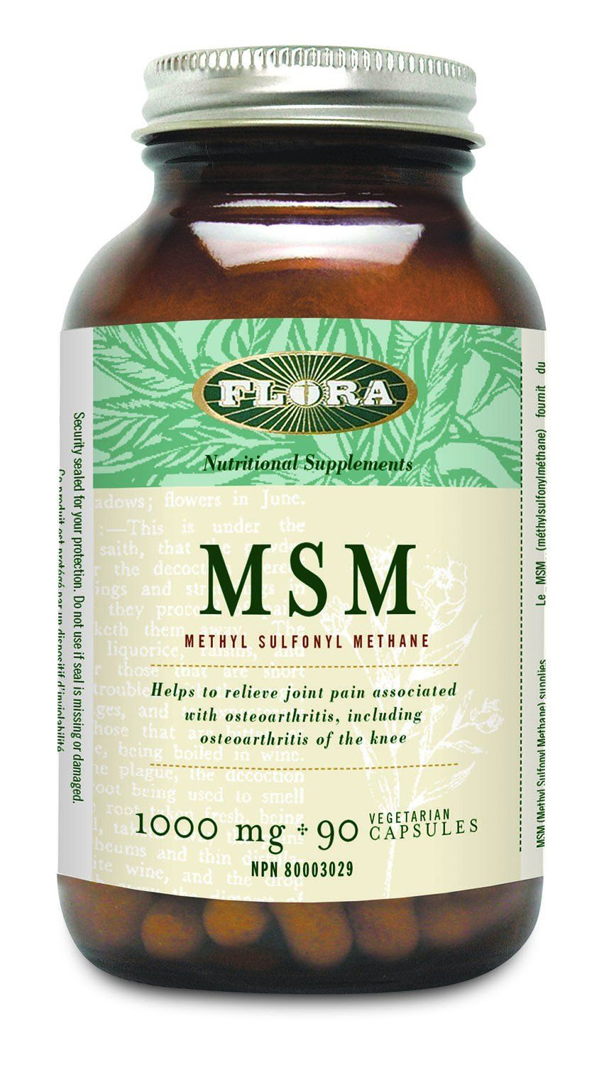 Supplements & Vitamins - Flora - MSM (MSM Methyl Sulfonyl Methane), 90 Vc