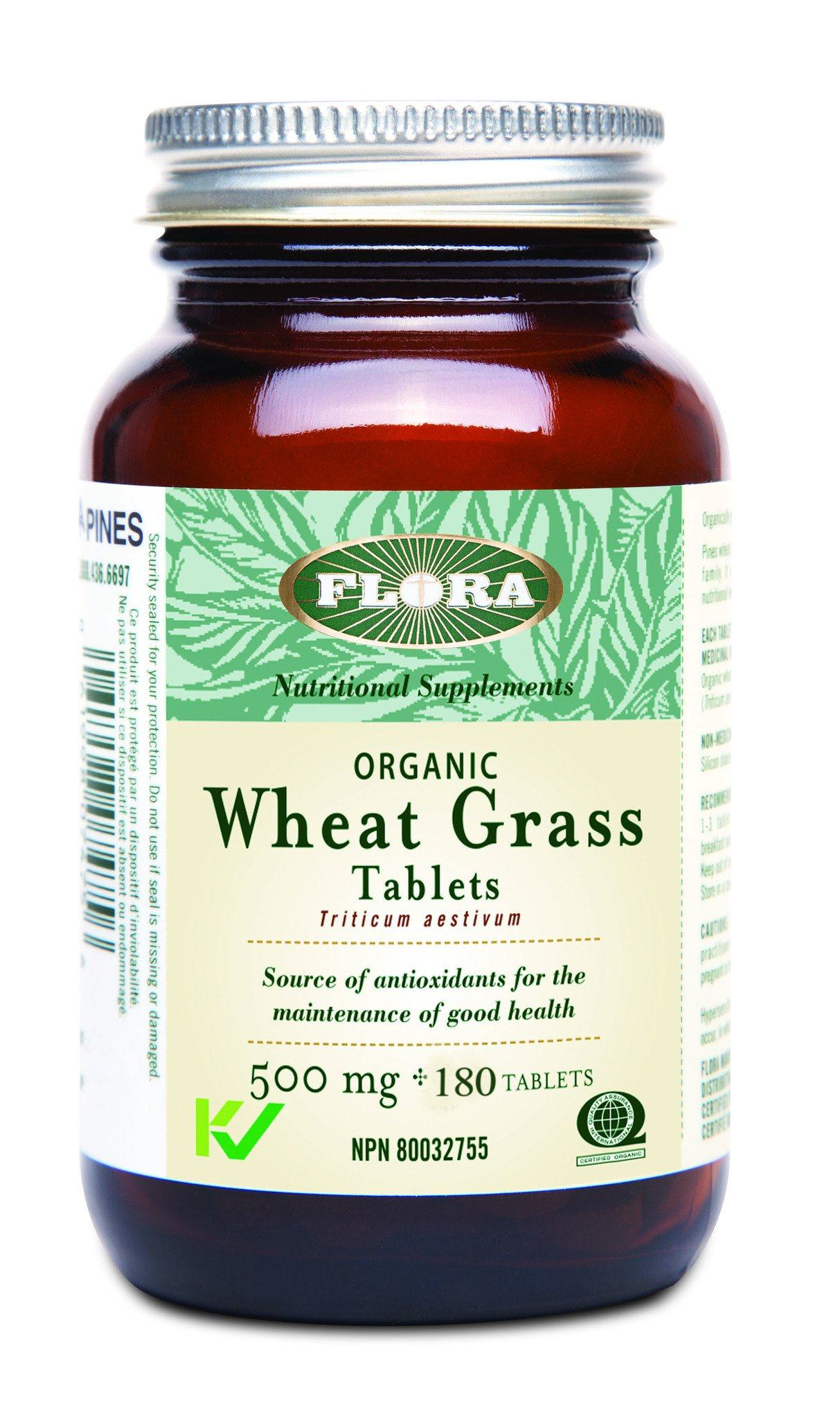 Supplements & Vitamins - Flora - Wheat Grass Tablets, 180tab