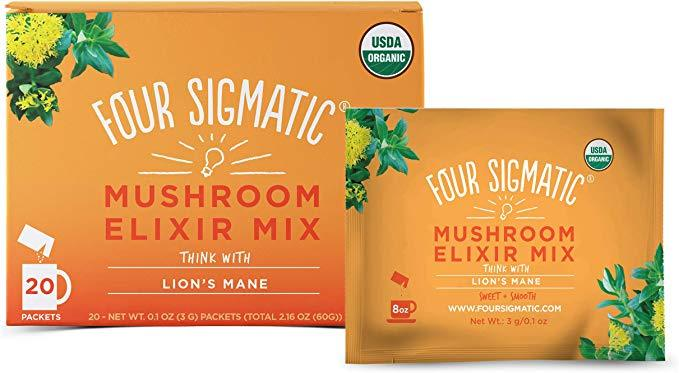 Supplements & Vitamins - Four Sigma Foods - Lion's Mane Mushroom Elixir, 3g