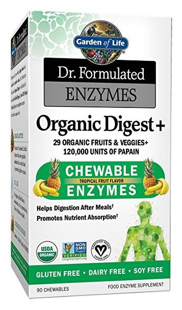 Supplements & Vitamins - Garden Of Life - Dr. Formulated Organic Digest+, 90 Chew Tablets