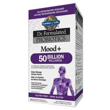 Supplements & Vitamins - Garden Of Life - Dr. Formulated Probiotics Mood+ 50 Billion, Shelf Stable 60 VCAPS