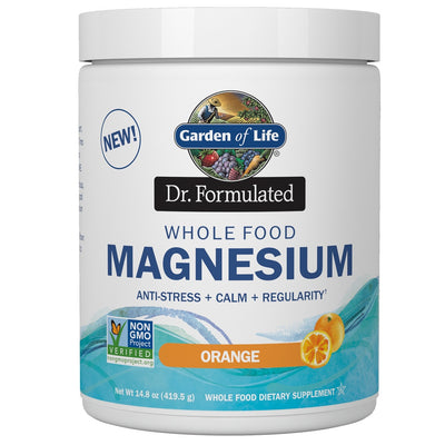 Supplements & Vitamins - Garden Of Life - Dr. Formulated Whole Food Magnesium - Orange, 419.5g