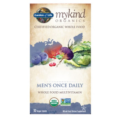 Supplements & Vitamins - Garden Of Life - Mens Once Daily Multi Vitamin - 30 Vegan Tabs