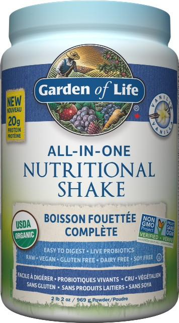 Supplements & Vitamins - Garden Of Life - Raw All-in-one Shake Vanilla - 972 G