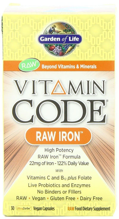 Supplements & Vitamins - Garden Of Life - Raw Iron, 30 Vc