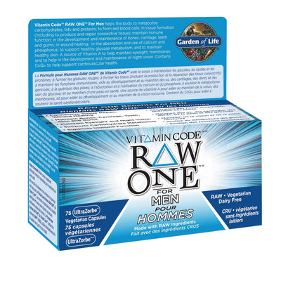 Supplements & Vitamins - Garden Of Life - Raw One For Men, 75 Vc
