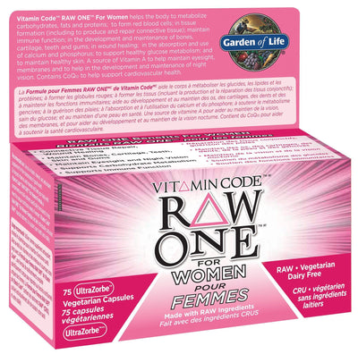 Supplements & Vitamins - Garden Of Life - Raw One For Women, 75 Vc