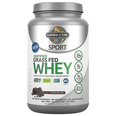 Supplements & Vitamins - Garden Of Life - Sport Grass Fed Whey Chocolate, 652g