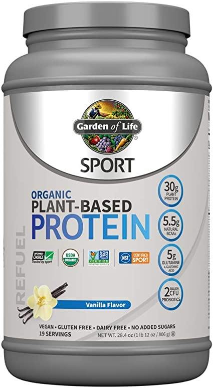 Supplements & Vitamins - Garden Of Life - Sport Organic Plant-based Protein Powder Vanilla, 806g