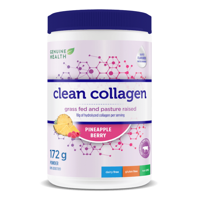 Supplements & Vitamins - Genuine Health - Clean Collagen - Pineapple Berry, 172g