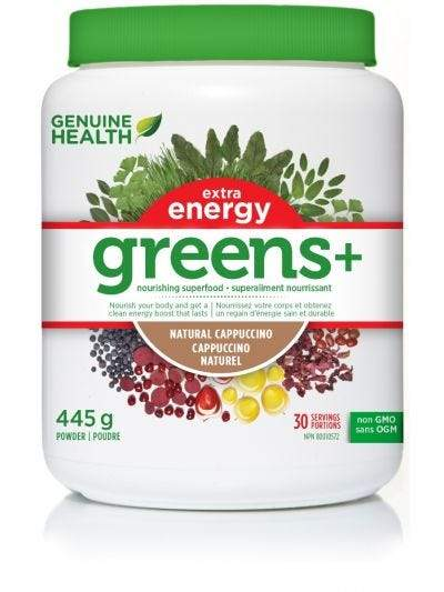 Supplements & Vitamins - Genuine Health - Greens + Extra Energy - Cappuccino, 445g