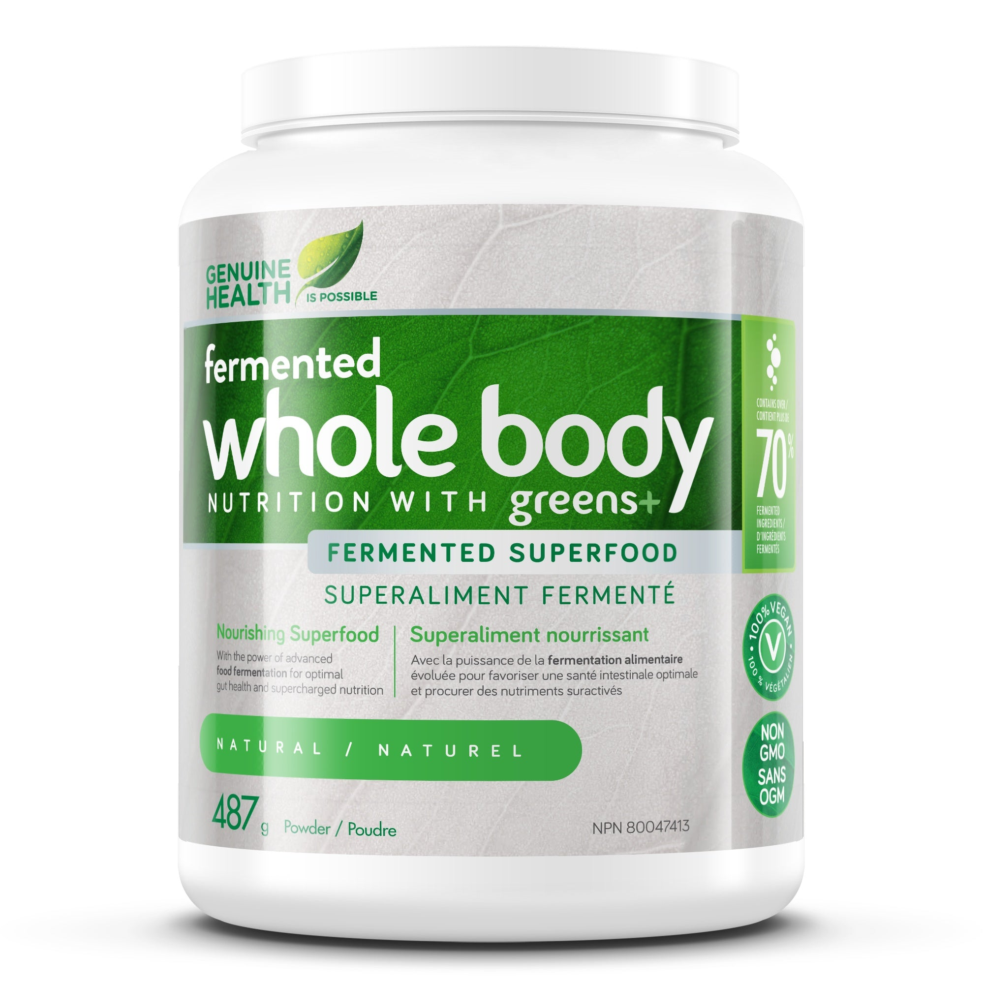 Supplements & Vitamins - Genuine Health - Greens+ Whole Body - Original, 487g