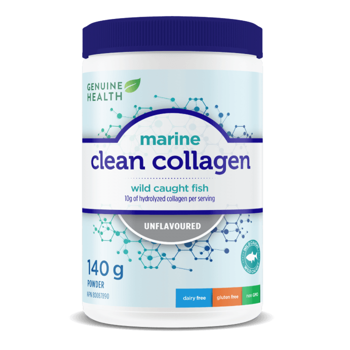 Supplements & Vitamins - Genuine Health - Marine Clean Collagen - Unflavoured, 140g